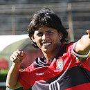 Índio ficou marcado pelas flechadas nas comemorações de gol