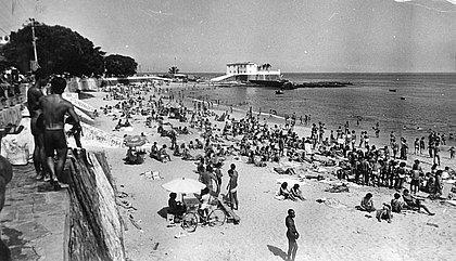 Praia do Porto da Barra em 1982