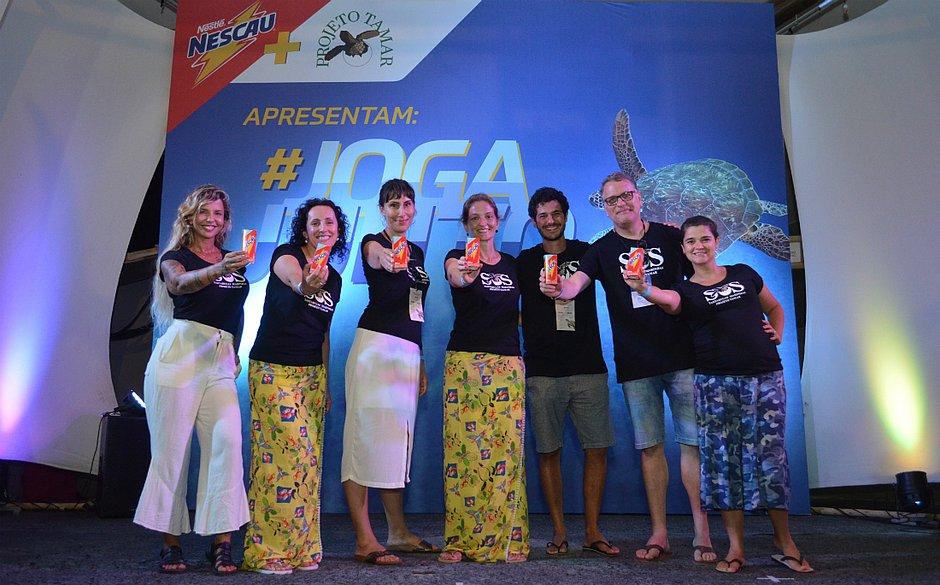 A parceria entre a Nestlé e o Projeto Tamar foi firmada no final da tarde de terça, em Praia de Forte, em seguida, outras ações serão realizadas no Brasil
