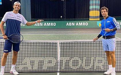 O brasileiro Marcelo Melo e o holandês Jean-Julien Rojer