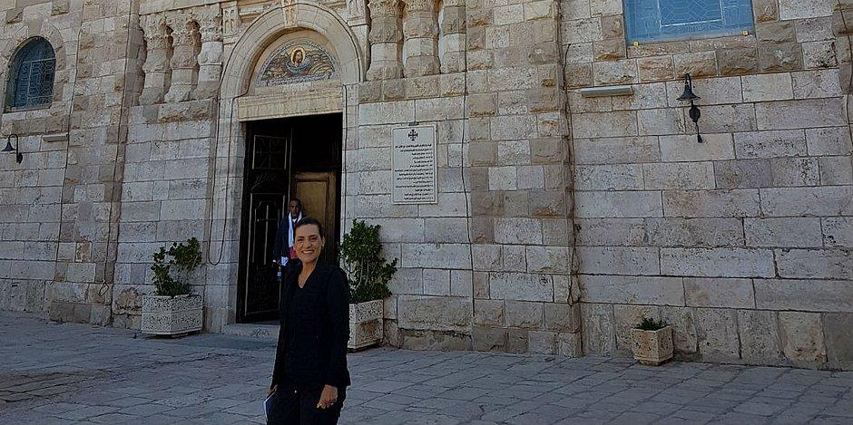 A repórter viajou e visitou locais históricos e de fé