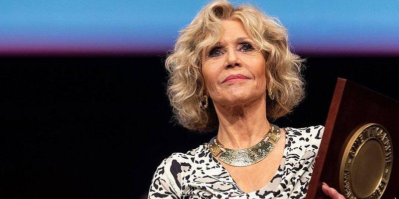 Atriz Jane Fonda é segunda mulher a receber oprêmio Lumière