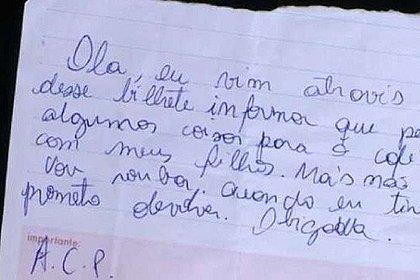 Mulher furta comida para os filhos e deixa bilhete: 'Prometo devolver'