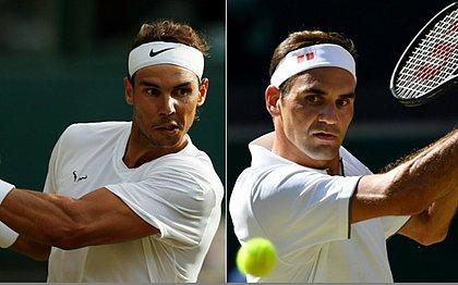 Nadal e Federer se enfrentam na semifinal de Wimbledon