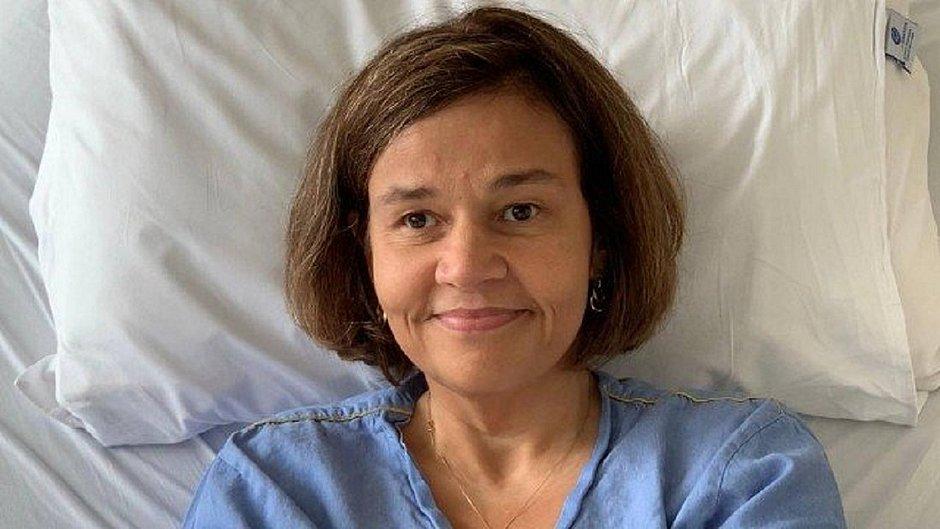 Claudia Rodrigues acordou animada nesta quarta-feira
