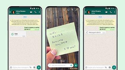 WhatsApp cria recurso de fotos e vídeos que só poderão ser visualizados uma vez