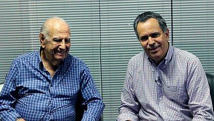 Ex-deputado Félix Mendonça, ao lado do filho, Félix Mendonça Júnior (Foto: Acervo Pessoal)