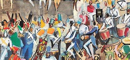 A obra Escola de Samba, de Carybé, recebeu o zoom do CORREIO