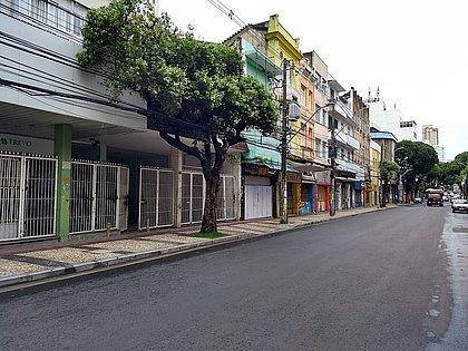 Avenida Sete vazia em março do ano passado
