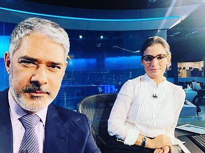 William Bonner continua na bancada do Jornal Nacional com Renata Vasconcelos