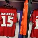 Camisa vermelha vai ser utilizada pela primeira vez na partida contra o Palmeiras