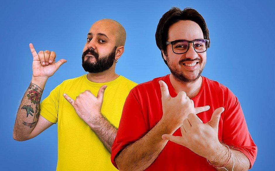Pedro Duarte (de vermelho) e Nicolás Queiros apresentam o This is Brazil
