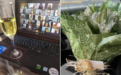 Adriana Melo e Cândido de Carvalho comemoraram a união através de uma cerimônia online