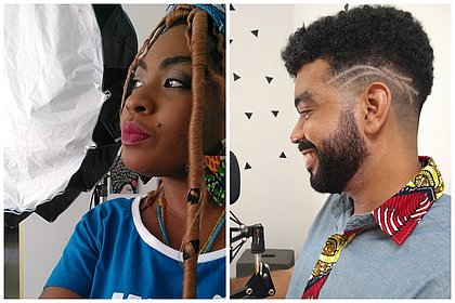 Fran Cardoso e Rafael Santana são idealizadores do Projeto Pele Preta e roteiristas do Àkesán