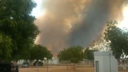Incêndio destrói área de vegetação em Ibotirama, no oeste da Bahia