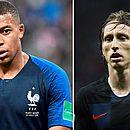 Mbappé e Modric são os principais jogadores de França e Croácia