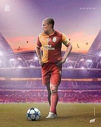 Alex com a camisa do Galatasaray