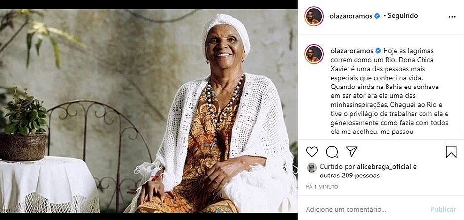 Famosos lamentam morte de Chica Xavier; veja homenagens