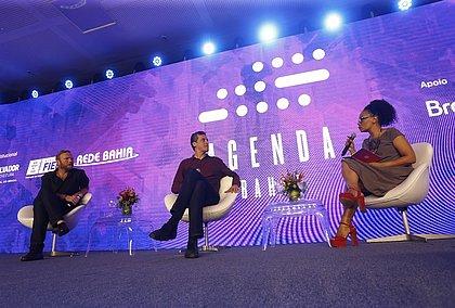 Peter Kronstrom, Rodrigo Baggio e Flávia Oliveira
