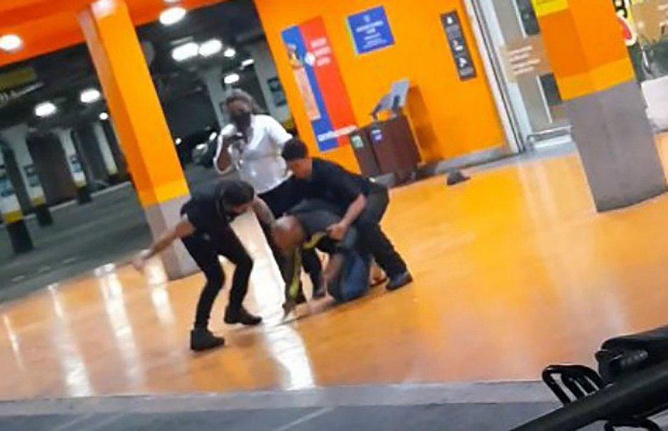 Vídeo que circula nas redes sociais mostra o momento da agressão