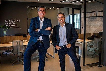 Os sócios da agência Viamídia  Americo Neto e Leonardo César