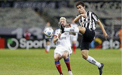 O Bahia tentou pressionar o Atlético-MG, mas errou na pontaria e passou em branco no Mineirão