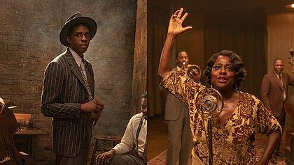 Chadwick Boseman, que morreu em agosto,  e Viola Davis em A Voz Suprema do Blues