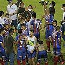 Jogadores do Bahia comemoram título do Campeonato Baiano