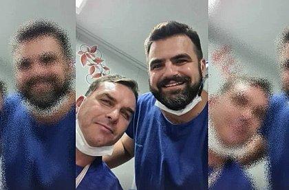 'Meu ombro saiu do lugar', diz Flávio Bolsonaro após acidente no Ceará