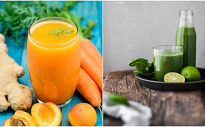 Sucos que alimentam e também fortalecem