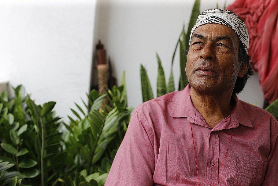 O índio Ailton Krenak é autor do best-seller Ideias Para Adiar o Fim do Mundo
