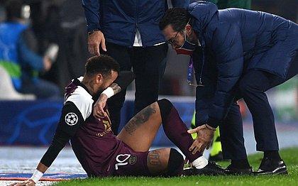 Neymar foi substituído aos 25 minutos do primeiro tempo