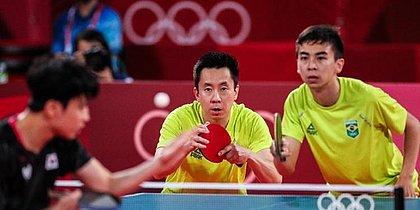 A dupla Gustavo Tsuboi e Vitor Ishiy enfrentou os sul-coreanos Lee Sangsu e Jeoung Youngsik