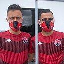Matheus Frizzo (esquerda) e Thiago Lopes são os mais novos contratados do Vitória