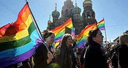 Ativistas protestam em São Petersburgo