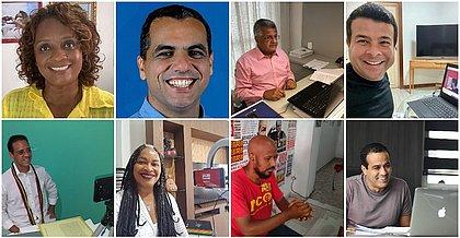 Quase todos os candidatos a prefeito participaram da sabatina - apenas o Pastor Sargento Isidório recusou