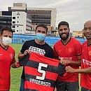Ramon Menezes, Vanderson, Wallace e Dinei durante treino do Vitória no estádio do Paysandu