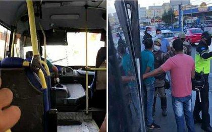Vídeo: motorista assusta passageiros ao bater em carro e fugir da polícia em Lauro de Freitas