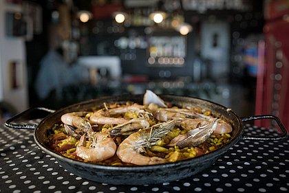 Paella Marinera do chef Jose Morchon do La Taperia