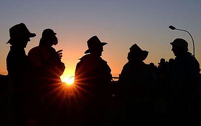 Campeonato de corridas de cavalo Birdsville na cidade de Birdsville em Queensland.