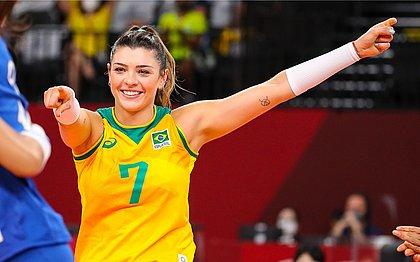 Rosamaria Montibeller em ação na Olimpíada de Tóquio