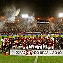 Elenco do Vitória na final da Copa do Brasil 2010 contra o Santos no Barradão