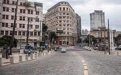 Registro deste mês da Praça Castro Alves, um dos pontos tradicionais da folia, sem sinal de Carnaval