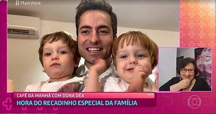 Mãe de Paulo Gustavo chora ao ver recado de Thales e netos