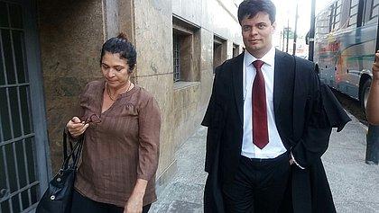 Marinúbia chegou cedo para acompanhar o júri popular da médica Kátia Vargas