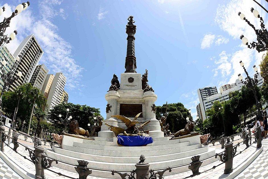 Monumento ao Dois de Julho, no Campo Grande, deverá ser tombado pela Prefeitura