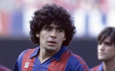 Maradona na pré-temporada do Barcelona, em 28 de julho de 1982