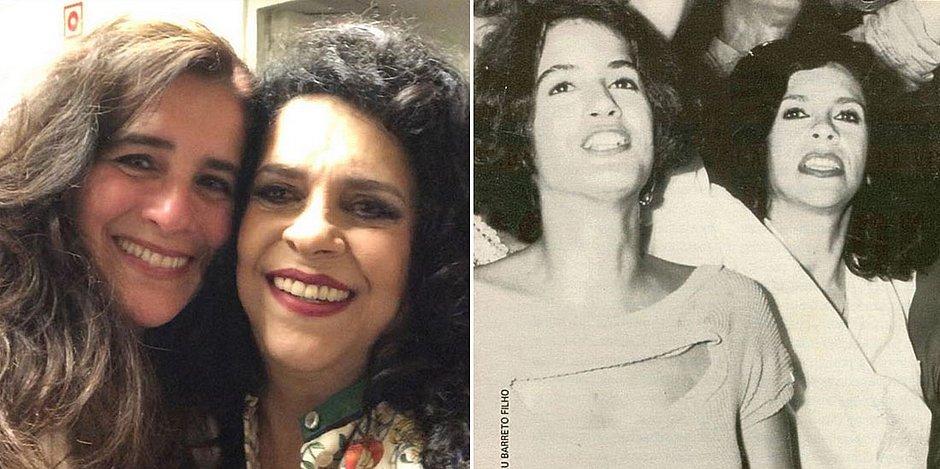 Em Portugal, Gal Costa posa ao lado da ex Lúcia Veríssimo