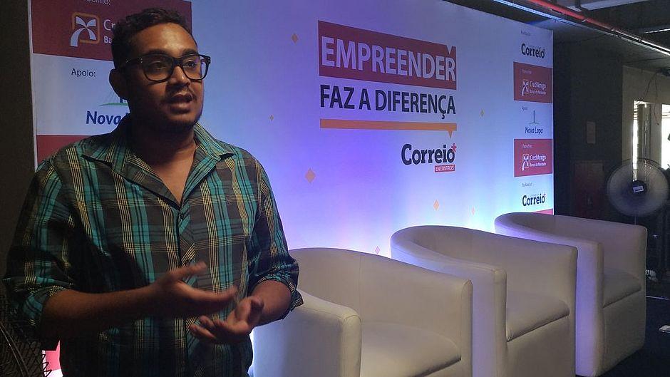 Alisson Mariano foi ao CORREIO Encontros para conhecer formas de expandir sua empresa