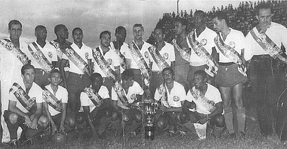 Time do Bahia em jogo das faixas pouco após o título da Taça Brasil de 1959